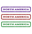 north america watermark stamp vector image vector image