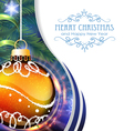 Orange Christmas ball with fir branches vector image vector image