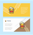 pop corn abstract corporate business banner vector image