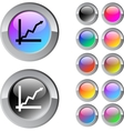 Positive trend multicolor round button vector image