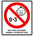 Prohibition sign for childrenNot for children vector image