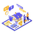propery house insurance isometric vector image vector image