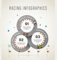 racetrack infographic vector image