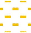 regal crown pattern flat vector image vector image