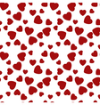 Seamless pattern hearts Happy Valentines Day vector image vector image