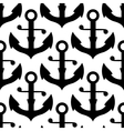 seamless pattern sea ship anchors vector image vector image