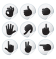 stickers with human hand signs vector image