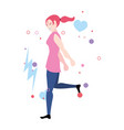 strong woman - girl power vector image