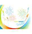 stylish diwali greeting vector image vector image
