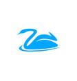 swan logo design template vector image