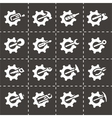 Tools in gear icon set vector image