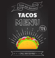 Traditional mexican fast food meal tacos menu