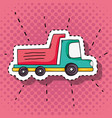 transportation truck element patches design vector image vector image