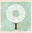 tree made of fashion buttons decoration vector image vector image