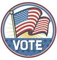 United States of America Elections pins badge vector image vector image