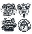 vintage skateboarding emblems set vector image vector image