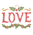 word love and decor vector image