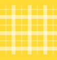 yellow tablecloth for picnic flat isolated vector image