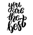 you are the best hand drawn motivation lettering vector image