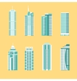 Modern building icon set vector image
