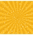 Orange sun vintage background Rays star burst vector image