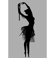 silhouette of a ballerina standing in a pose vector image