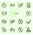 14 disc icons vector image vector image