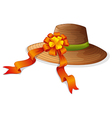 A fashion hat with a ribbon vector image vector image