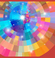 abstract colorful background with sun vector image vector image