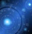 Abstract dark blue technology futuristic vector image