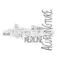 acupuncture versus western medicine text word vector image vector image
