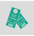Baseball tickets icon vector image vector image