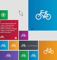 Bicycle icon sign buttons Modern interface website vector image vector image