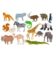 Big set different animals goat wild boar panda vector image vector image