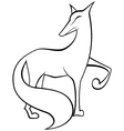 Black and white fox vector image vector image