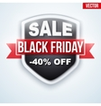 Black Friday Sale badge vector image vector image