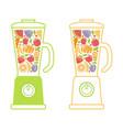 blender smoothie symbol vector image