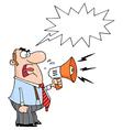 Boss yelling cartoon vector image vector image