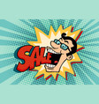 businessman head and sales vector image vector image