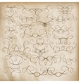 calligraphic design elements set eps 10 vector image vector image
