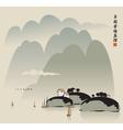 china lake vector image vector image