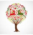 christmas tree made xmas ornament decoration vector image vector image