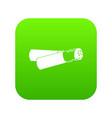 cigarette butt icon digital green vector image