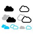 cloud symbols vector image vector image