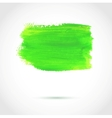 Colorful green abstract paint banner vector image