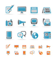 communication channels and social media icons vector image vector image