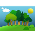 cut out paper forest vector image vector image