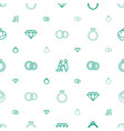 engagement icons pattern seamless white background vector image vector image