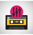 equalizer music cassette tape vector image