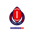 football logo template design vector image vector image